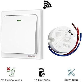 Basic Wireless Light Switch Kit Wall Light Switches