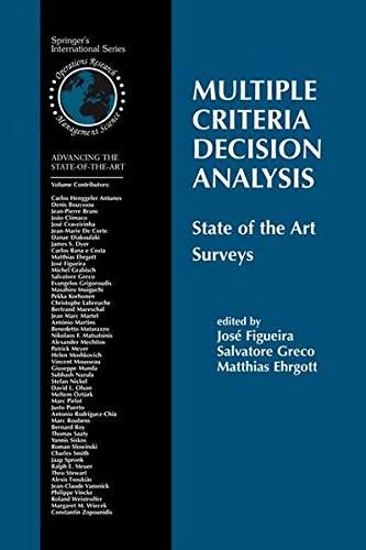 Multiple Criteria Decision Analysis: State of the Art Surveys (International Series in Operations Research & Management Science)