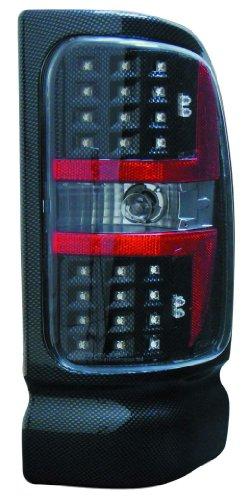 Depo M33-1901P-US3 Dodge Ram Pickup Carbon Fiber LED Tail (Led Tail Lights Carbon Fiber)
