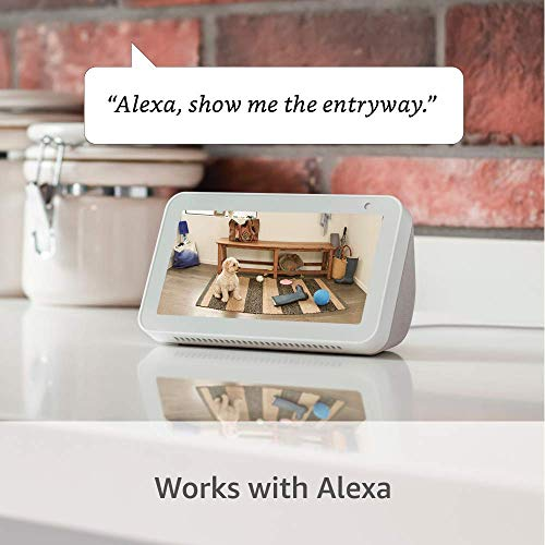 Certified Refurbished Ring Indoor Cam, Compact Plug-In HD safety digicam with two-way communicate, Works with Alexa - White