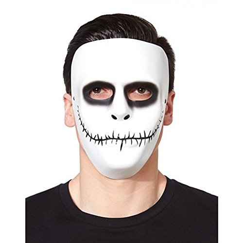 1605 Costume (Costume Beautiful White Skeleton Mask)
