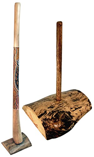Didge display made of root wood for 1 Didgeridoo, particularly suitable for large Didgeridoos