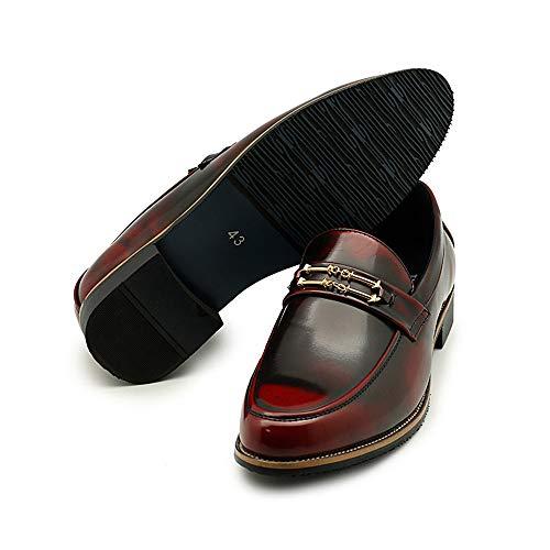 One Negocios Zapatos Eu Personalidad Rojo color Fang Metal Oxford shoes Pedal Azul Cómodo 37 De Button Antirust 2018 Hombres Formales Foot Hombre Casual Tamaño Los 6ggPwq