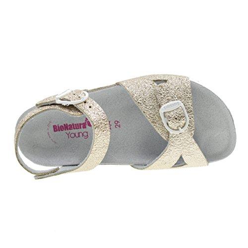 hebilla Sandalias Hecho Bionatura Platinum con Birk Italia en Platinum 22B1005P Modelo fwEfqPr