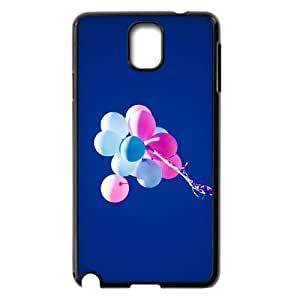 Dustin Balloon Samsung Galaxy Note 3 Case Unique Design Flying Balloons in Blue Sky Ilike, Case for Samsung Galaxy Note 3 Boys [Black]