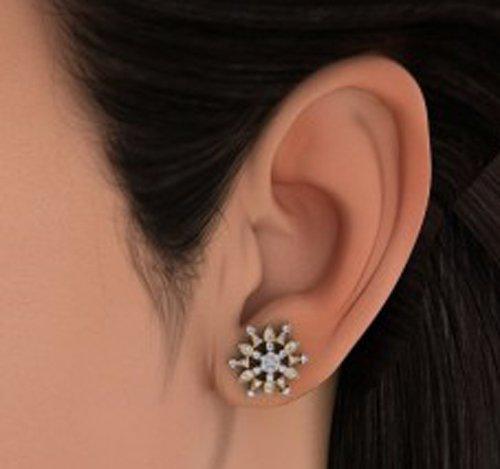 Or jaune 18K 0,75ct tw White-diamond (IJ | SI) Boucles d'oreille à tige