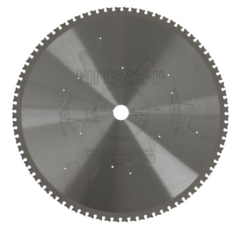 Hitachi 726137 80-Teeth Tungsten Carbide Tipped 14-Inch Dry Cutting Ferrous Metal Saw Blade