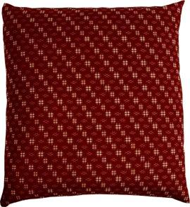 J-Life Authentic Traditional Japanese Zabuton Floor Cushion - Kasuri Red - 21