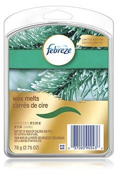 Febreze Wax Melts - Limited Edition - Frosted Pine - 6 Wax Melts Per Package - Net Wt. 2.75 OZ (78 g) Each - Pack of 4