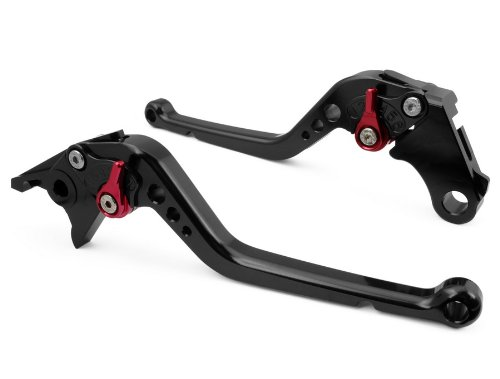 LUO Long Brake Clutch CNC Levers for Honda CBR 600 F2,F3,F4,F4i 1991-2007-Black by Luo Luo (Image #2)