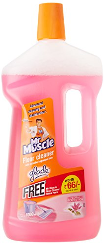 Mr. Muscle Floor Cleaner Floral Perfection – 1 L with free Flore cleaner glade citrus 500ml