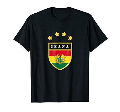 Ghana T-shirt Coat of arms Tee Flag souvenir Accra