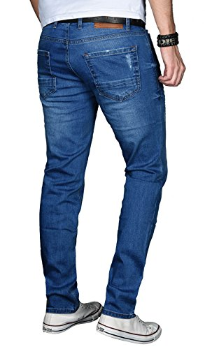 Blau Salvarini Alessandro Attillata used Jeans Basic Uomo Pwq1OXHrw