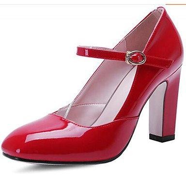 Chaussures Cuir ggx À Verni Printemps White 5 Rouge 7 Lvyuan Cm Blanc Décontracté Confort Talons Femme EYwEqa