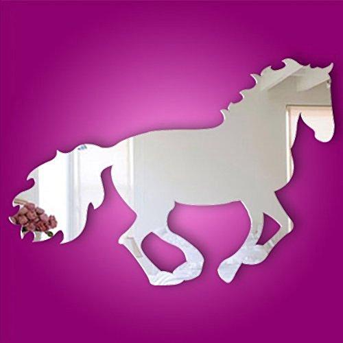 Alrens(TM)Horse Pattern Modern Creative Design Wall Decals DIY 3D Acrylic Mirror Surface Wall Sticker Living Room Children Room Bedroom adesivo de parede Home Decoration Mural Decor (Kids Horse Bedroom)