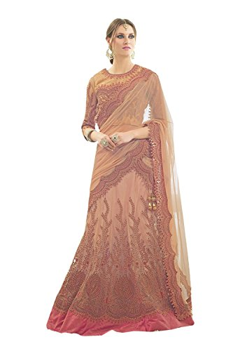 PCC Indian Women Designer Wedding brown Lehenga Choli K-4571-40094