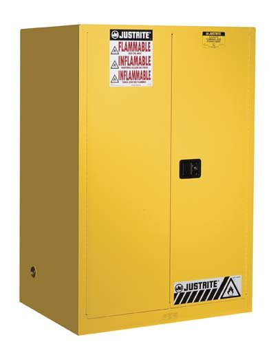 Justrite 899020 Sure-Grip EX Flammable Safety Cabinet, 2 Door, Self Closing, Dimensions (H x W x D): 65 x 34 x 34 inch (1651 x 1092 x 864 mm); 90 gal. (227L) by Justrite