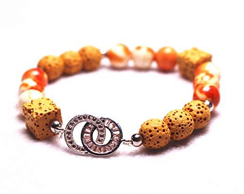 Wholesale Natural 8mm Lava Rock Bracelet,Beads Bracelet Supply,Jewelry Bracelet,Lava Bracelet,Bracelet Wholesale.Gemstone Beaded Stretch Bracelet 8mm Round Beads 7.5