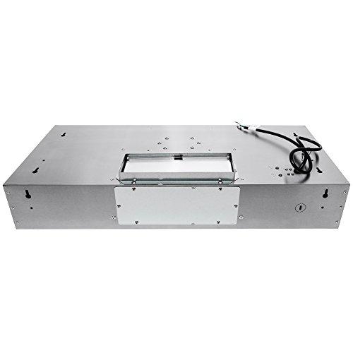 Adjustable Chimney Style Range Hoods ~ Golden vantage ″ stainless steel under cabinet push