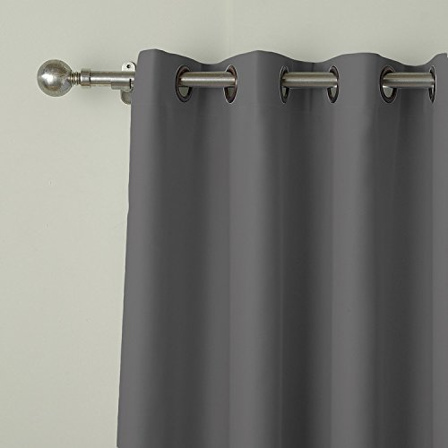cololeaf Outdoor Curtains Water Resistant,Grommet Thremal Insulated Blackout Curtain For Patio, Porch, Gazebo, Pergola, Cabana, dock, beach home - Grey 84'' Wx96 L Inch (1 panel)