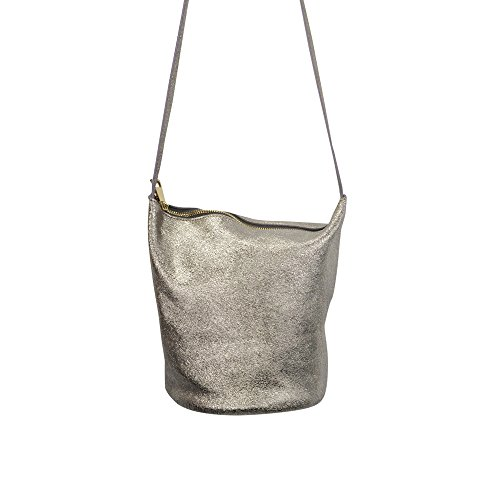 Street Level (NYLA Zip Up Bucket Bag in Gold (One Size, Gold))