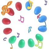 Rockrok Egg Shakers 12PCS Plastic Percussion Musical Toys Maracas Eggs for Kids Child
