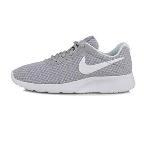 Nike Womens Tanjun Running Sneaker Wolf Grey/White 7.5
