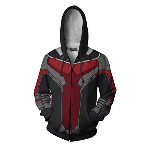 WKDFOREVER 3D Captain Fashion Cosplay Hoodie Jacket Costume (Small, Ant) ()