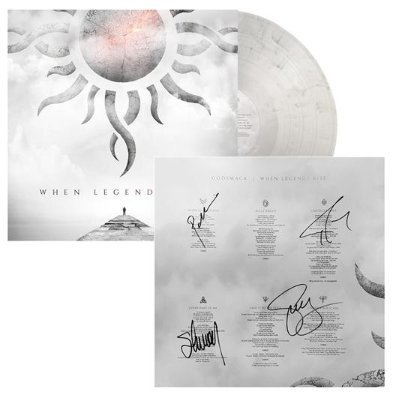 """Godsmack Autographed""""When Legends Rise"""" Vinyl Record Album Sleeve (signed by entire band)."""