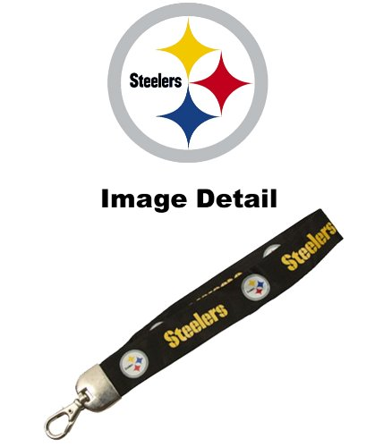 Pittsburgh Steelers NFL Team Logo Hand Wristlet Lanyard - Nfl Lanyard For Keys
