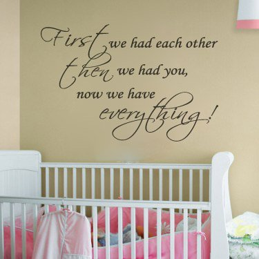 first we had each other nursery room decal wall quote vinyl love