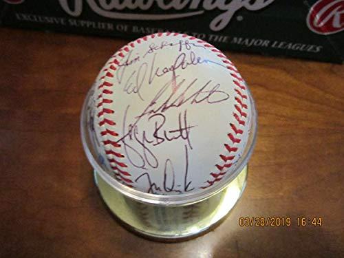 (1987 Kansas City Royals Team Signed baseball Bo Jackson George Brett)