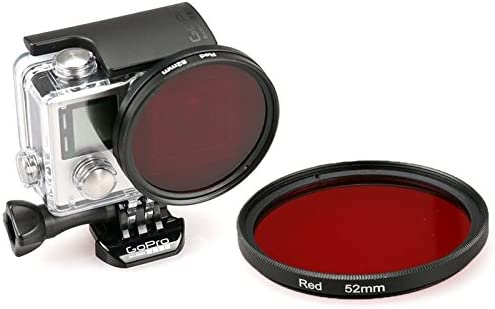XIAOMO MEETBM 52mm Round Circle Color UV Lens Filter for GoPro Hero 4//3+ Color : Red Red