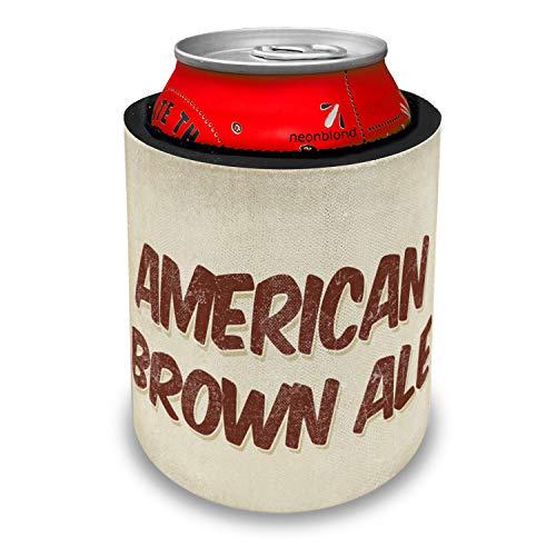 NEONBLOND American Brown Ale Beer, Vintage style Slap Can Cooler Insulator Sleeve