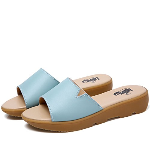 Summer Cool Sandals Flat Pregnant Women Shoes Slope With Fashionable Slippers Flat Bottom Slippers Sandals Female (3 Colors Optional) (Size Optional) A lhj5SFIP2