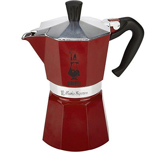 Bialetti 6633 6 Cup Moka Stovetop Espresso Maker Red