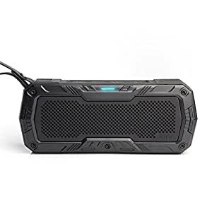 Jarv DuraVibe Pro Portable Bluetooth Speaker, Indoor/Outdoor/Shower Wireless Speaker, Water Resistant, Shockproof, Dustproof, Bike Mount Speaker with Stereo Sound - Black (handlebar mount optional)