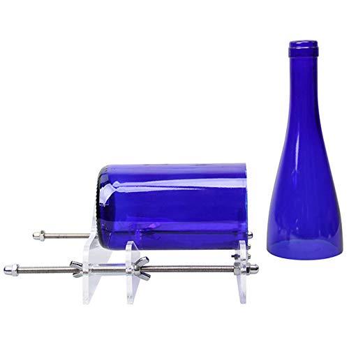 Tagliabottiglie regolabile per bottiglie di vino e birra macchina da taglio fai da te per decorazione di casa e bar con carta vetrata per bottiglie quadrate e rotonde