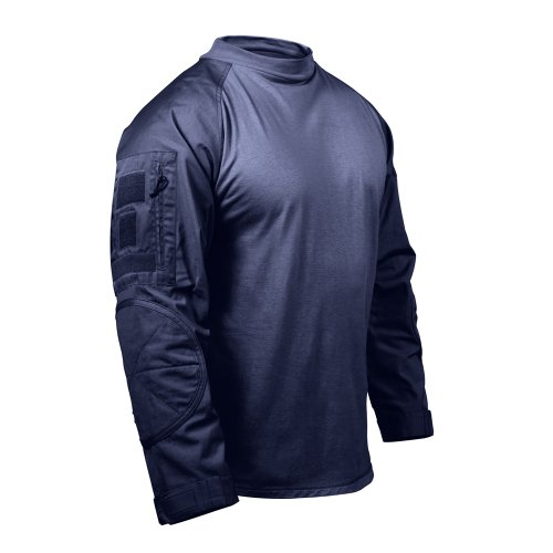 [Rothco Navy Blue Military Combat Shirt - Size: Medium] (Ww2 Navy Uniforms)
