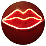 Best Room Decors - Neon Light,LED Lips Sign Shaped Decor Light,Wall Decor Review
