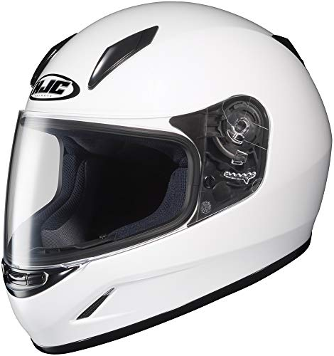 (HJC Helmets CL-Y Youth Helmet (White, Medium))