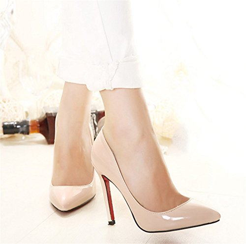Mujer Zapatos Sandalias Tacones Altos Moda Nocturno 45 Club Beige Mujeres Nvxie Casual De 35 tERqdww