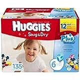 Huggies Snug & Dry Plus Diapers Size: 6; 135 Ct