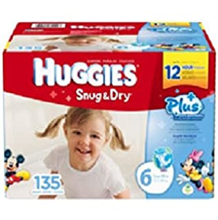 Amazon.com: Huggies Snug and Dry Diapers Economy Plus, Size 5, 172 ...