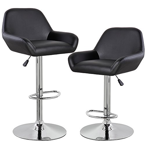 Kerland Morden Adjustable Swivel Bar Stools Set Of 2