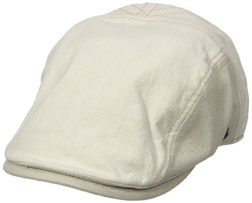 Original Penguin Men's Chambray Driving Cap, Off White, One - Linen Cap Penguin Original