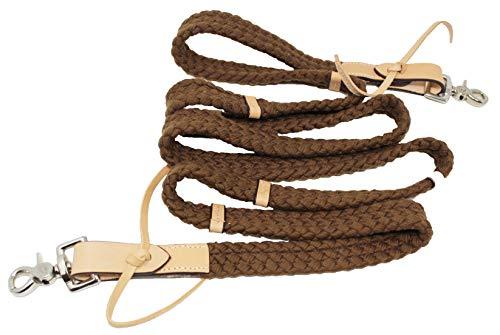 PRORIDER Horse Handmade Roping Tack Western Barrel Harness Cotton Reins 607317