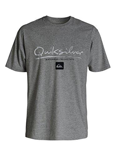Quiksilver Waterman Men's Gut Check Tee Shirt, Gunmetal Heather, Large