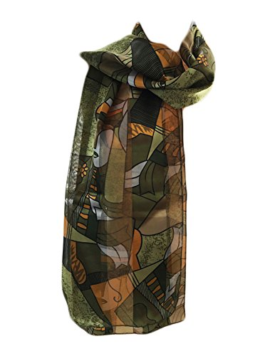 New Company Womens Pablo Picasso Artist Painter Art Scarf - Green - One - Green Silk Art Olive