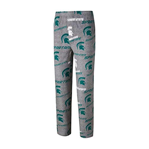 Concept Sport Michigan State Spartans Adult NCAA Achieve Fleece Pajama Pants - Gray, Large